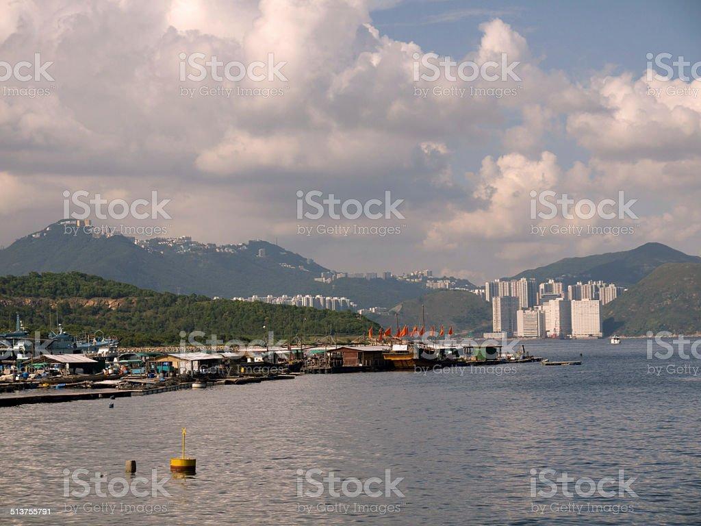 Hong Kong fishing village stock photo