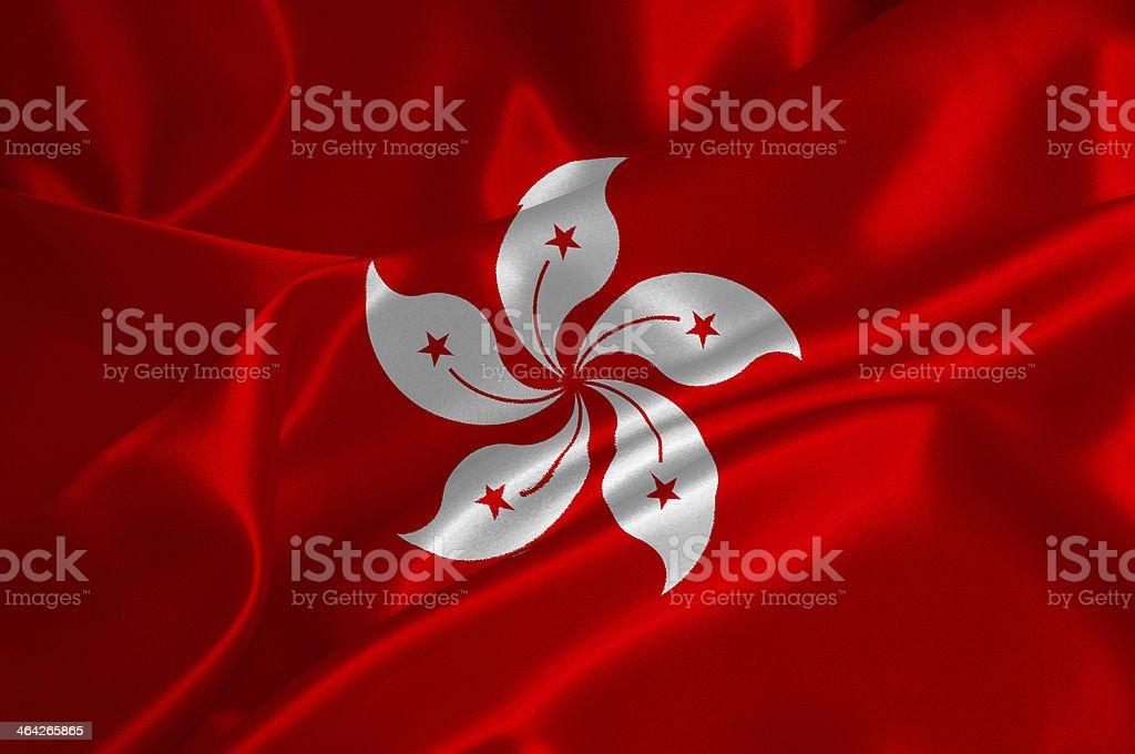 Hong Kong flag stock photo