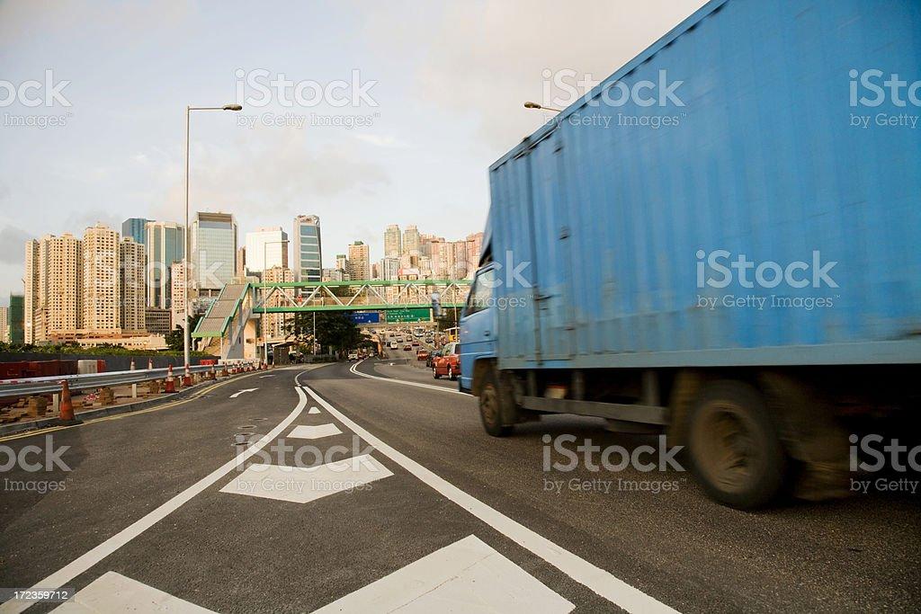 Hong Kong Freight Truck royalty-free stock photo