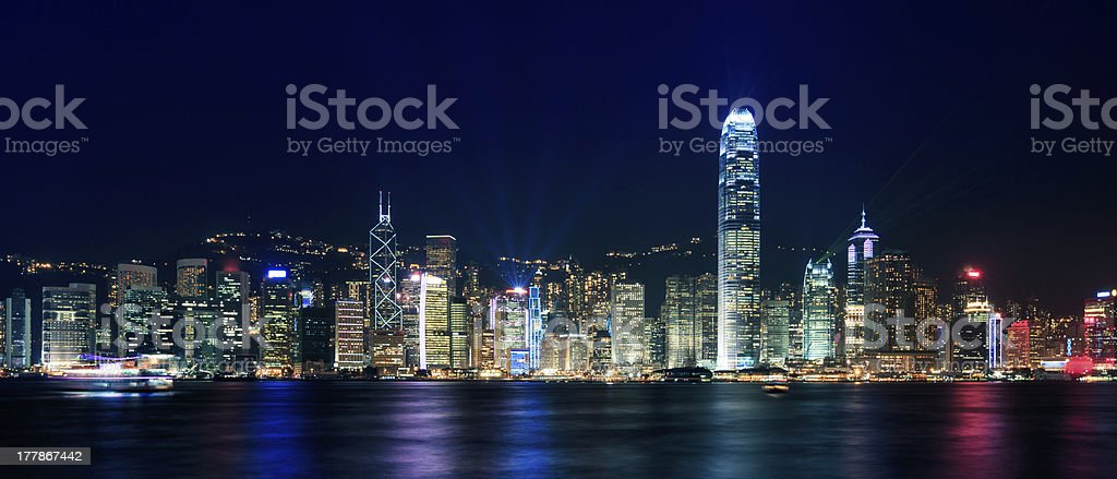 Hong Kong from Kowloon royalty-free stock photo