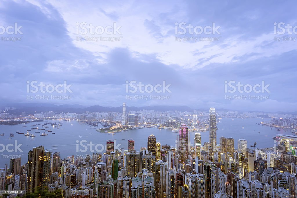 Hong Kong from Peak royalty-free stock photo