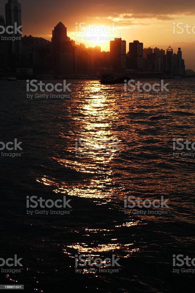 Hong Kong Harbor royalty-free stock photo