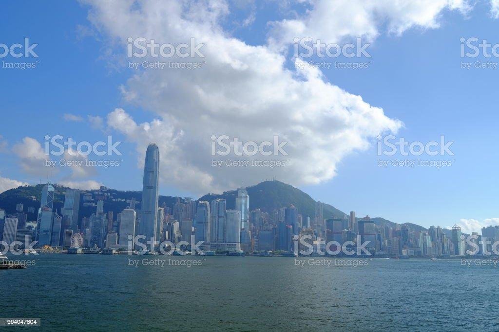 晴れた日に香港ハーバー ビュー - 世界的な名所のロイヤリティフリーストックフォト