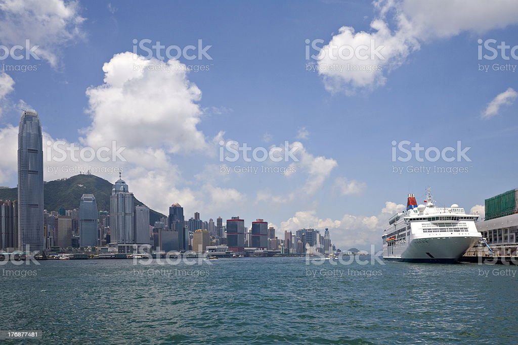 Hong Kong Harbour from Kowloon royalty-free stock photo