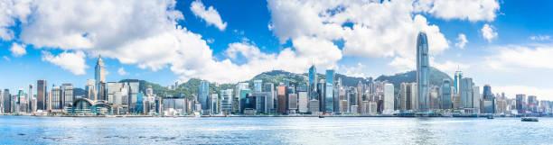 hong kong harbour view - hongkong bildbanksfoton och bilder