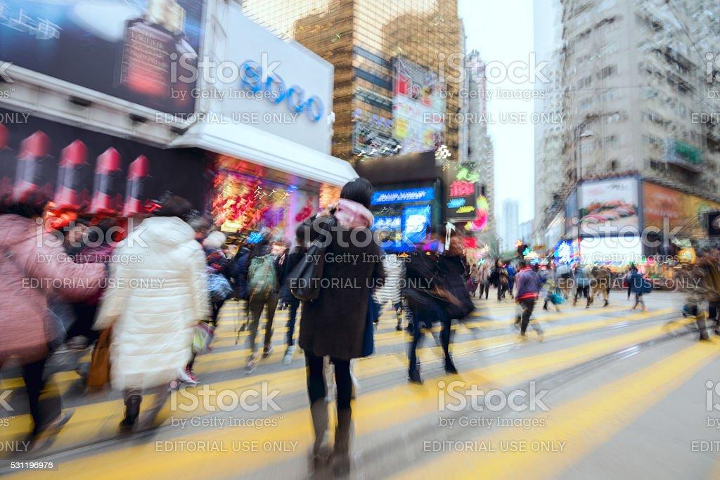 Hong Kong Hennessy Road stock photo