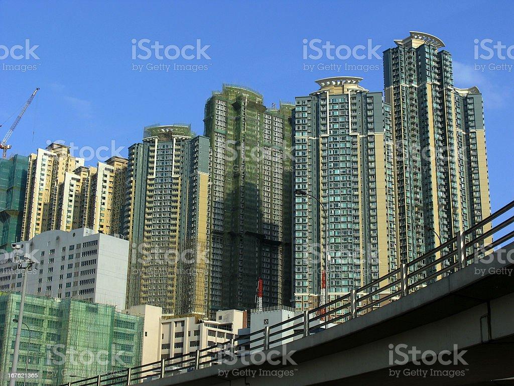 Hong Kong home building royalty-free stock photo