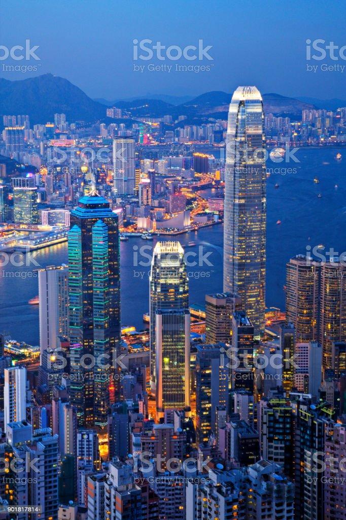 Hong Kong Illuminated stock photo
