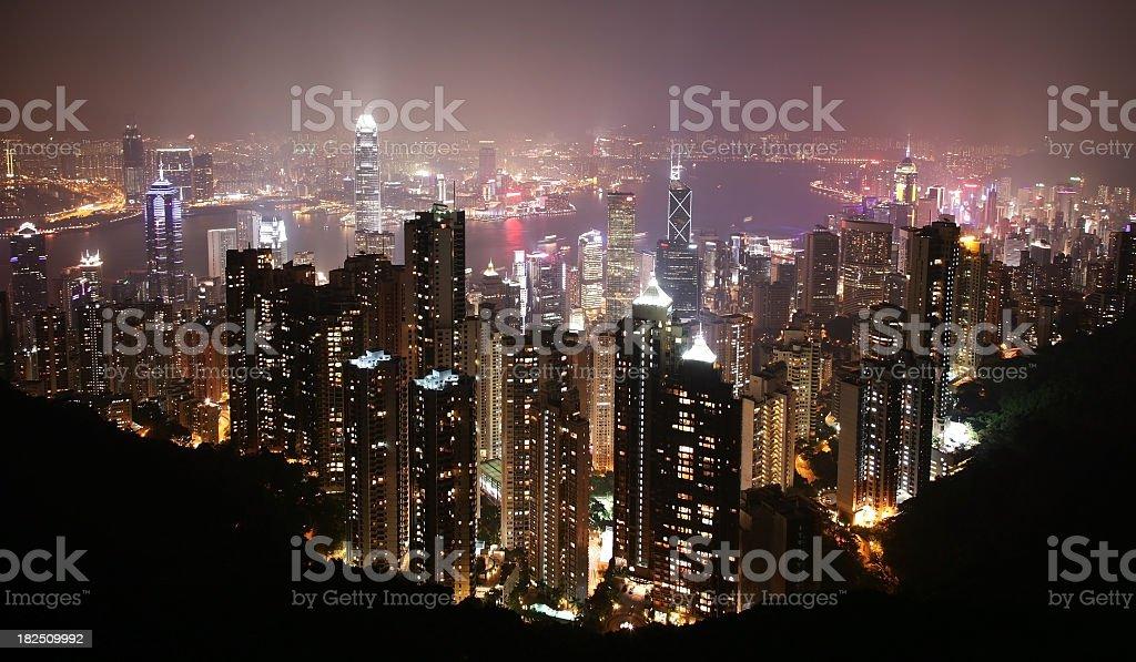 Hong Kong in fog royalty-free stock photo