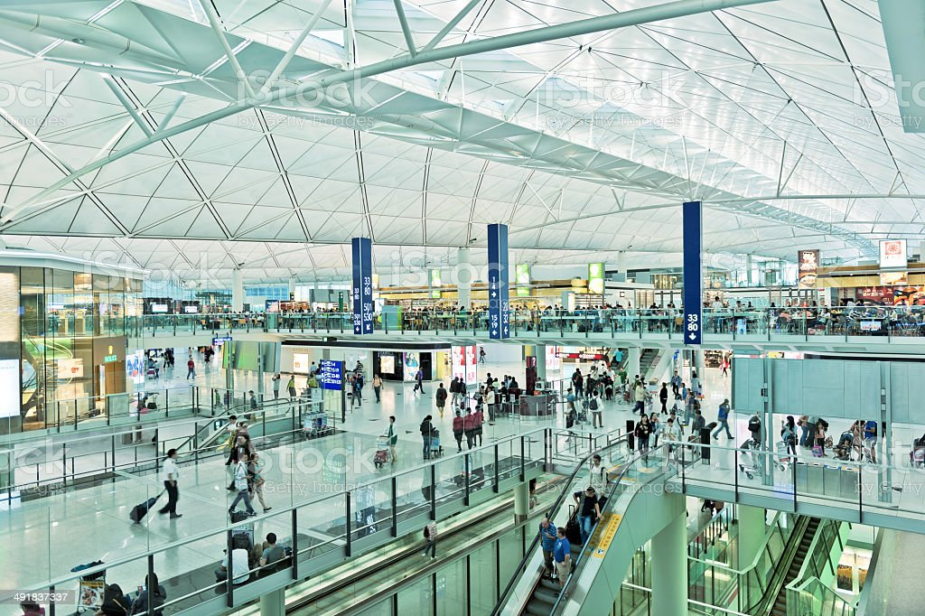 O Aeroporto Internacional de Hong Kong, China Asia - foto de acervo