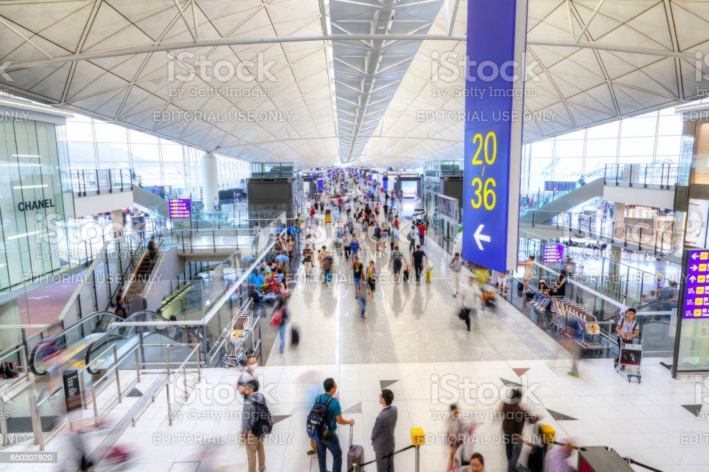Aeroporto Internacional de Hong Kong - foto de acervo