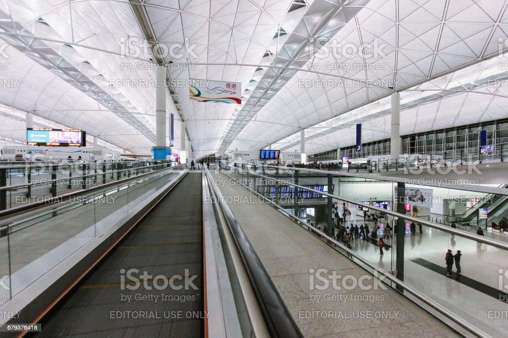 Hong Kong International Airport (Chek Lap Kok Airport) Terminal 1 royalty-free stock photo
