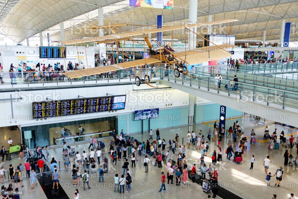 Hong Kong internationaler Flughafen Wartehalle – Foto