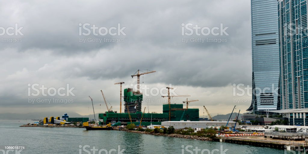 Hong Kong International Commerce Center and building site.
