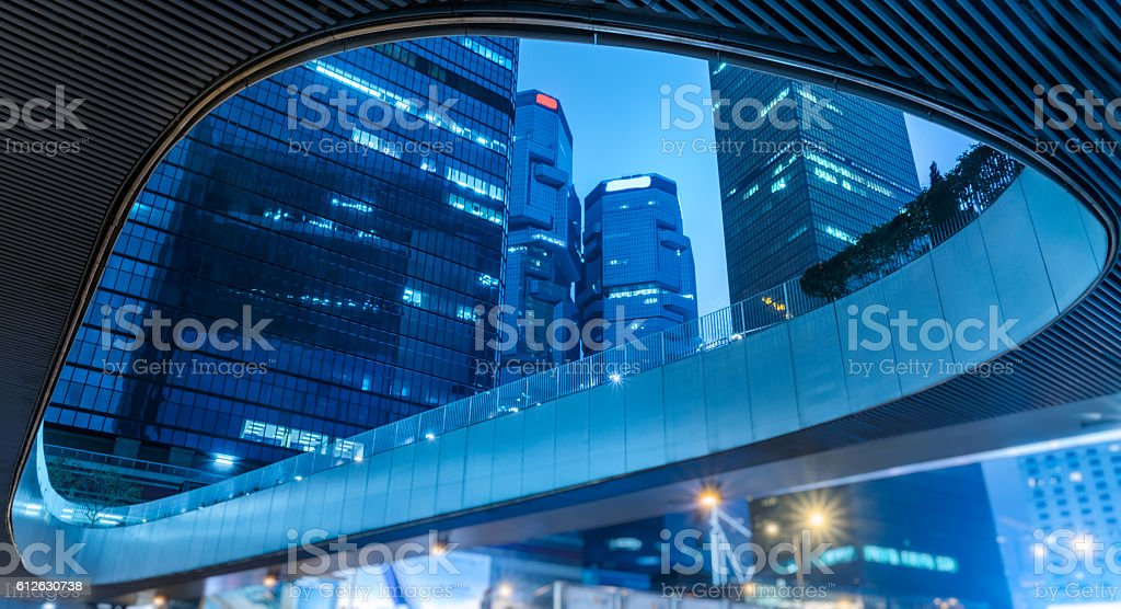 hong kong modern skyscrapers stock photo