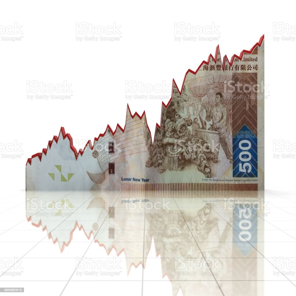 Hong Kong Money Growth Chart Finance Graph Economy Stock Photo