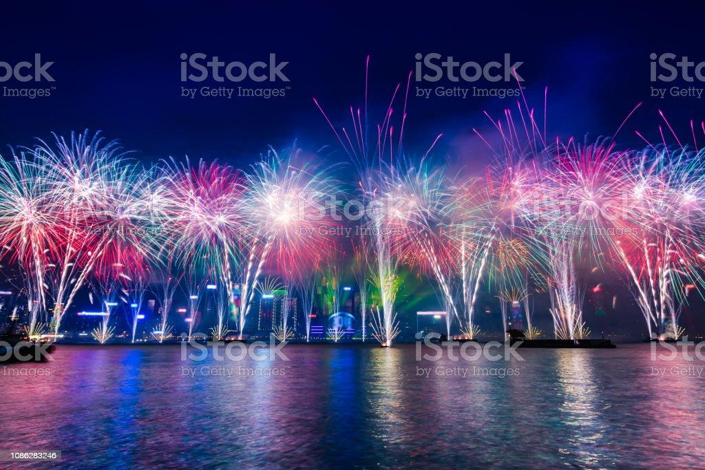 Hong Kong New Year Fireworks Countdown