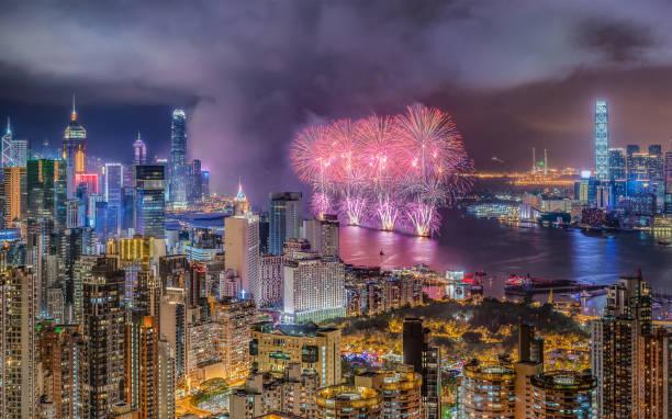 Hong Kong SilvesterFeuerwerk – Foto