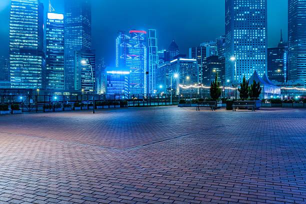 escena nocturna de hong kong - ciudad fotografías e imágenes de stock