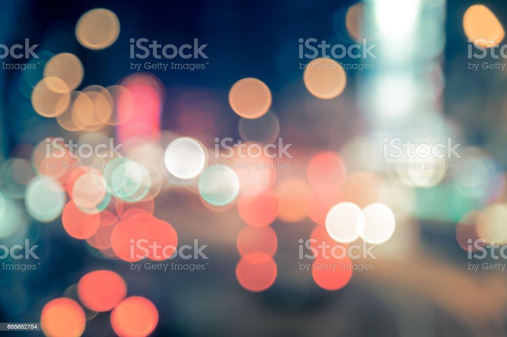 Hong Kong Night Straße Bokeh Hintergrund – Foto