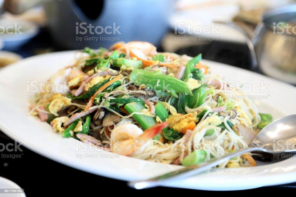 Hong Kong Noodle stock photo