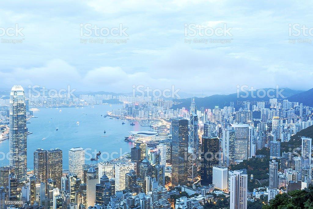 Hong Kong On A Beautiful Day royalty-free stock photo