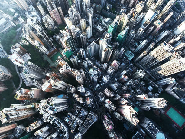 hong kong - high angle view stock pictures, royalty-free photos & images