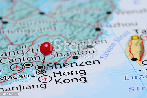 1151956281 istock photo Hong Kong pinned on a map of Asia 487673170