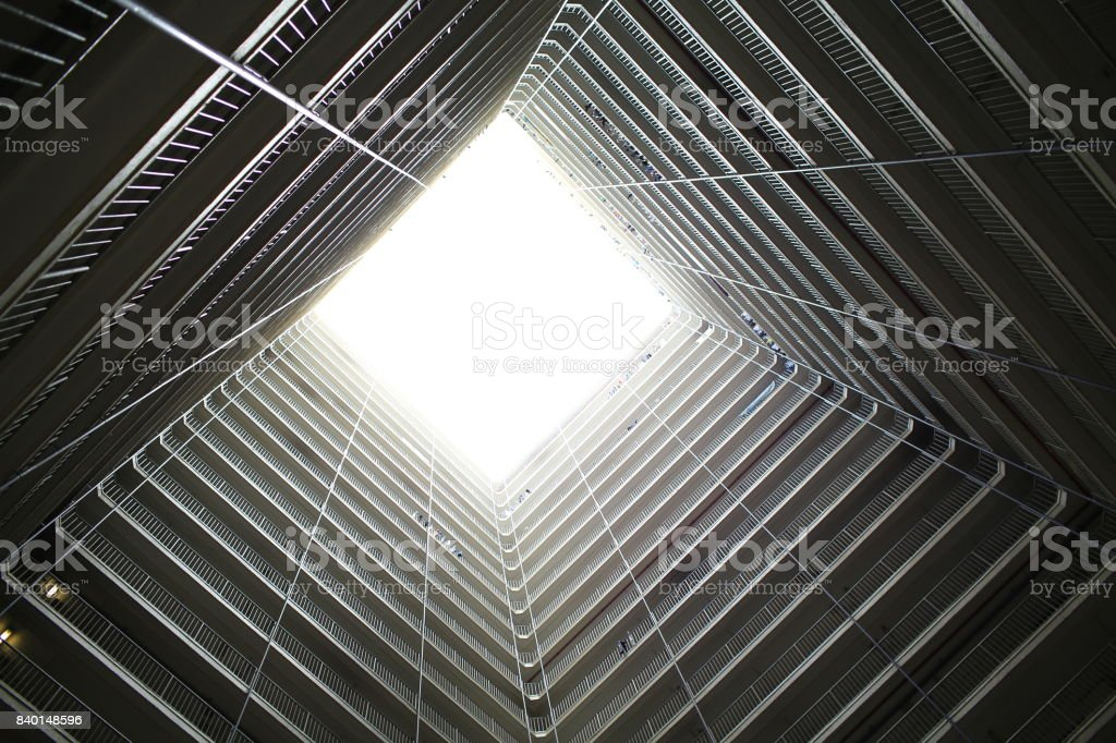 hong kong public housing design as well for good condition of air convection stock photo