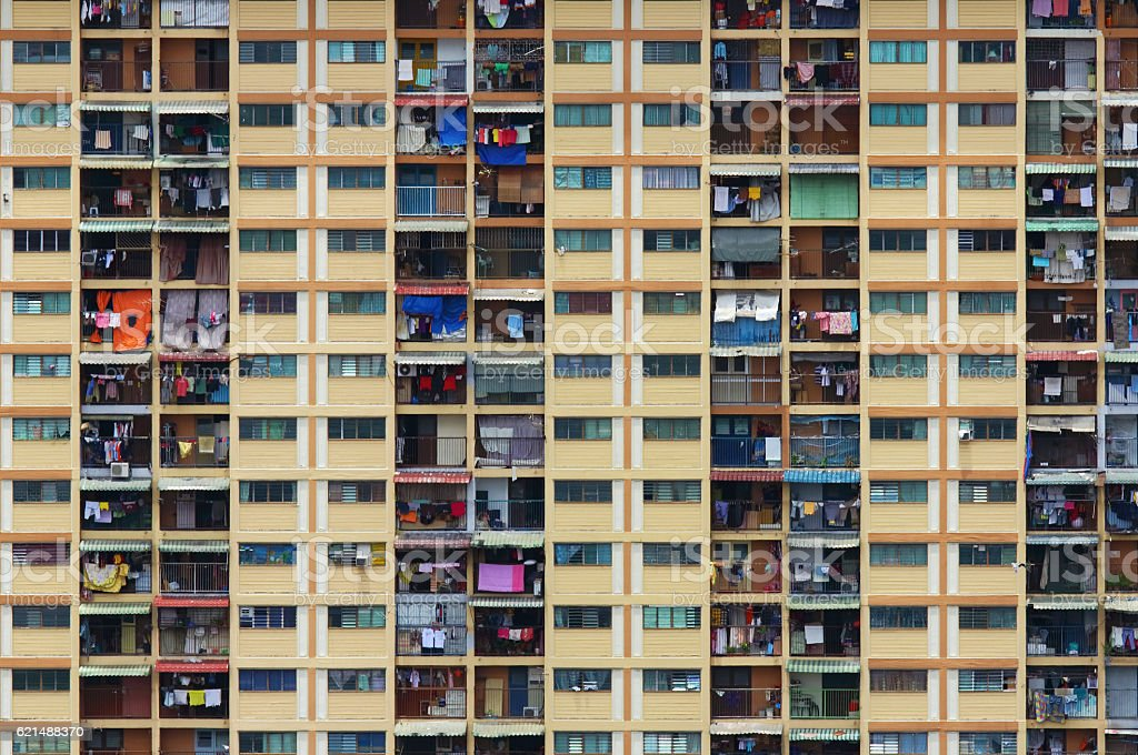 Edificio residenziale di Hong Kong foto stock royalty-free