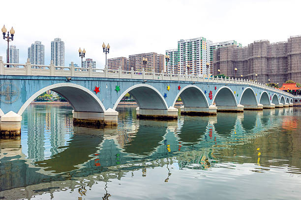 Hong Kong  , Residential district ,arch bridge in Sha Tin ,China Sha Tin , Residential district in Hong Kong  , Residential district ,arch bridge in Sha Tin ,China,Nikon D3x sha tin stock pictures, royalty-free photos & images