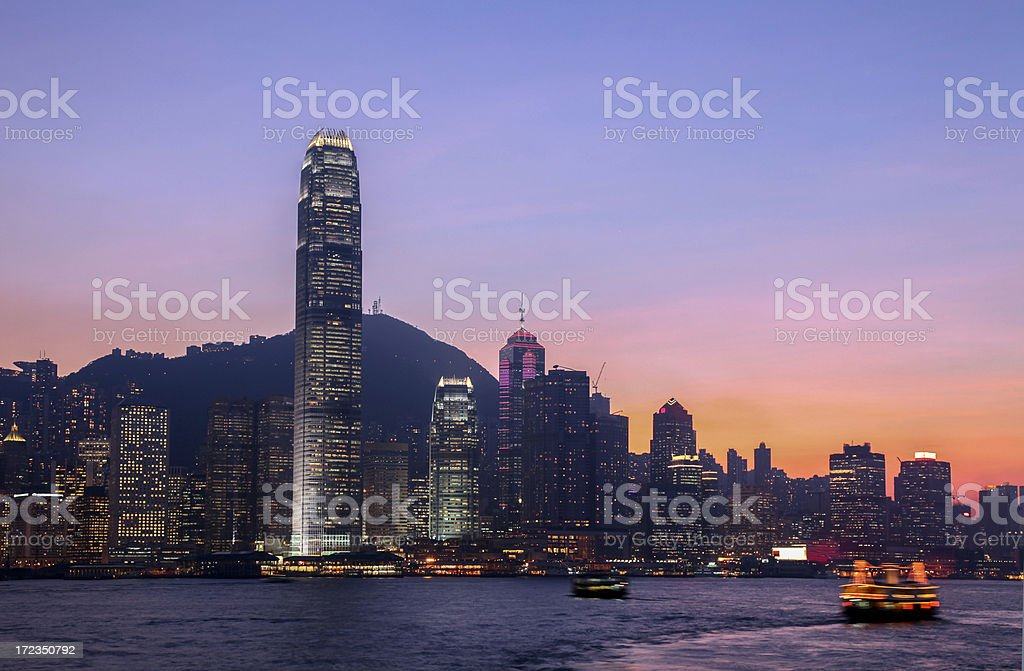 Hong Kong Skyline and Victoria Habour royalty-free stock photo