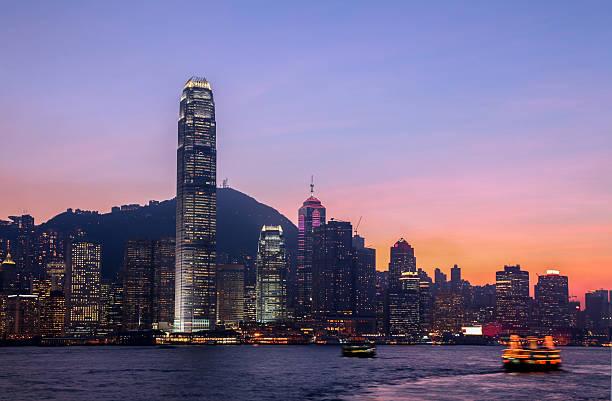 Skyline von Hongkong und Victoria Hafen – Foto