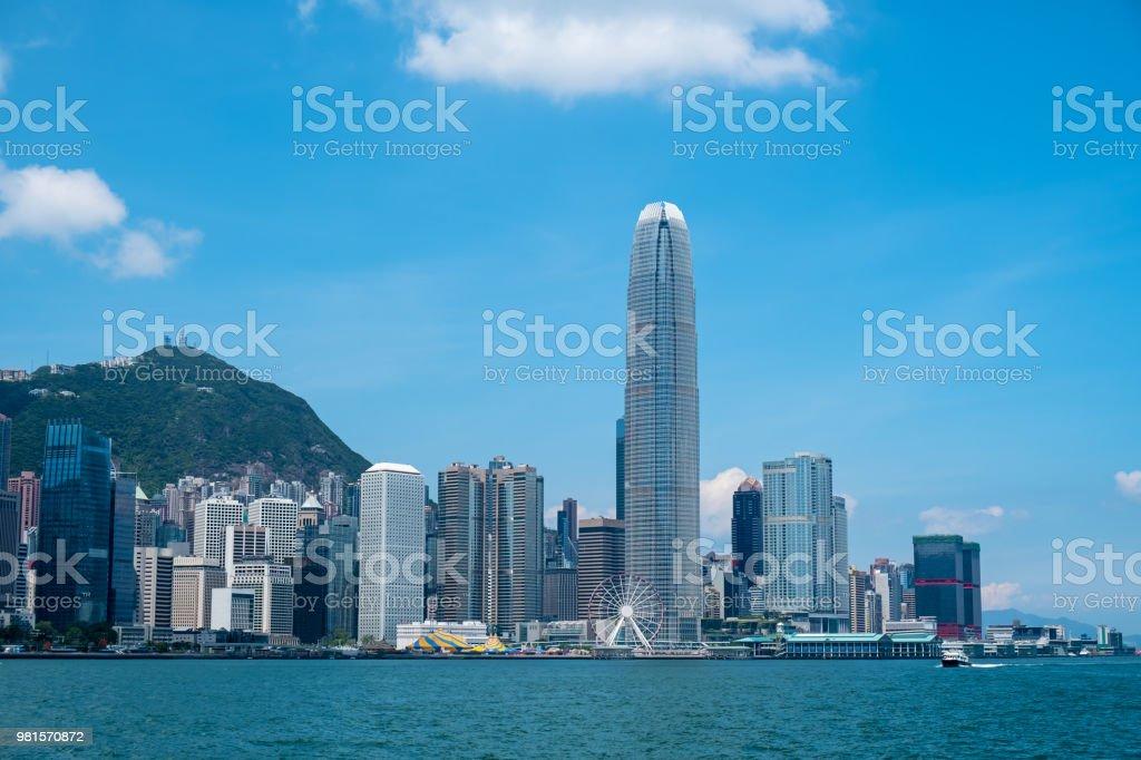 Hong Kong Skyline im Victoria Harbour – Foto