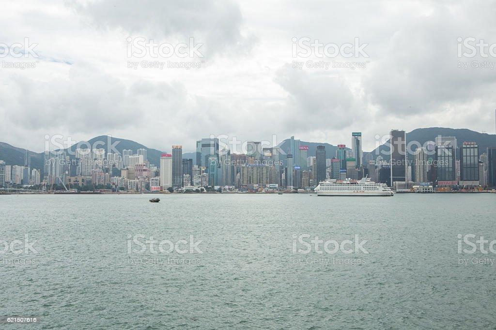 skyline von Hongkong  Lizenzfreies stock-foto