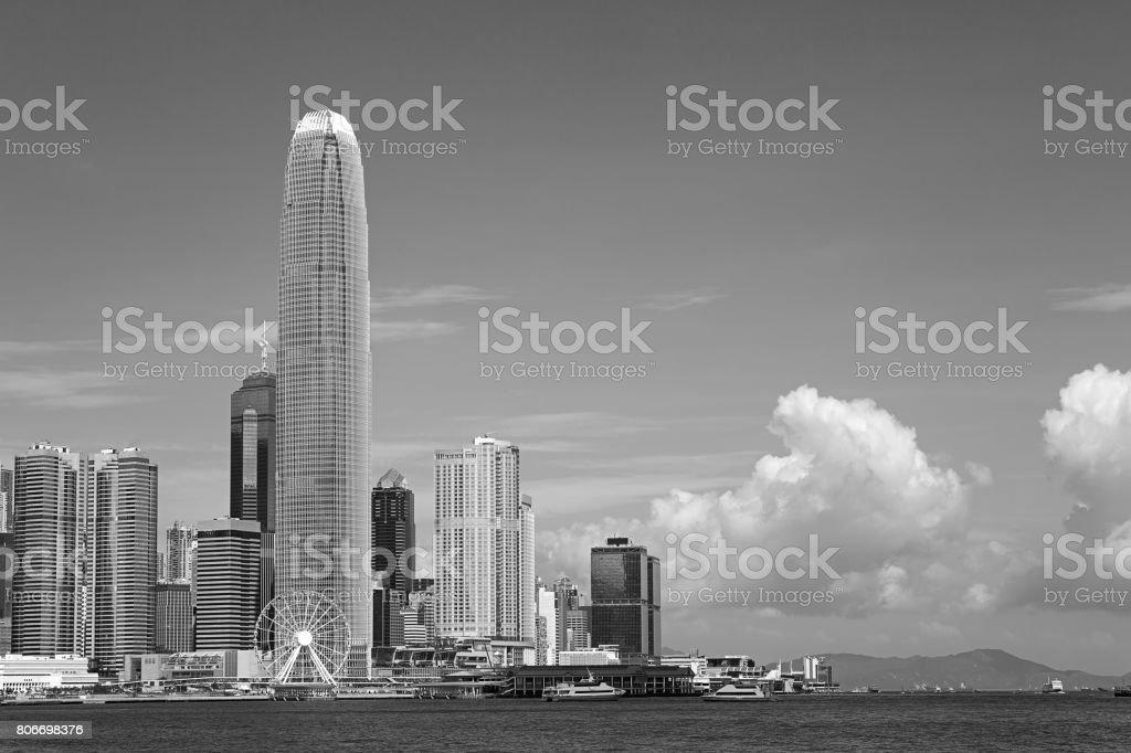 Hong Kong Skyline (Schwarzweiß) – Foto