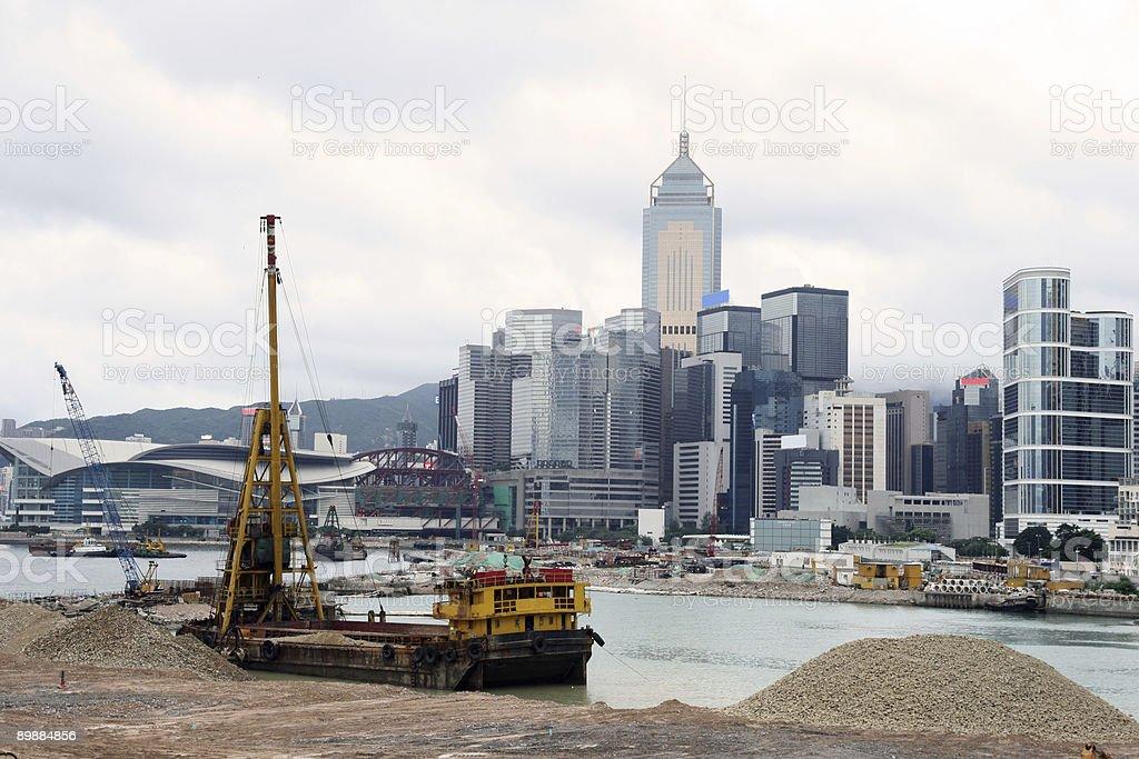Horizonte de Hong Kong foto de stock libre de derechos