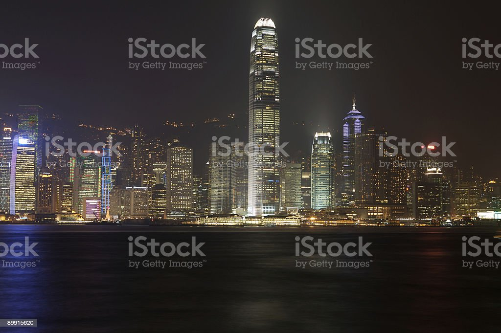 Skyline de Hong Kong foto de stock royalty-free