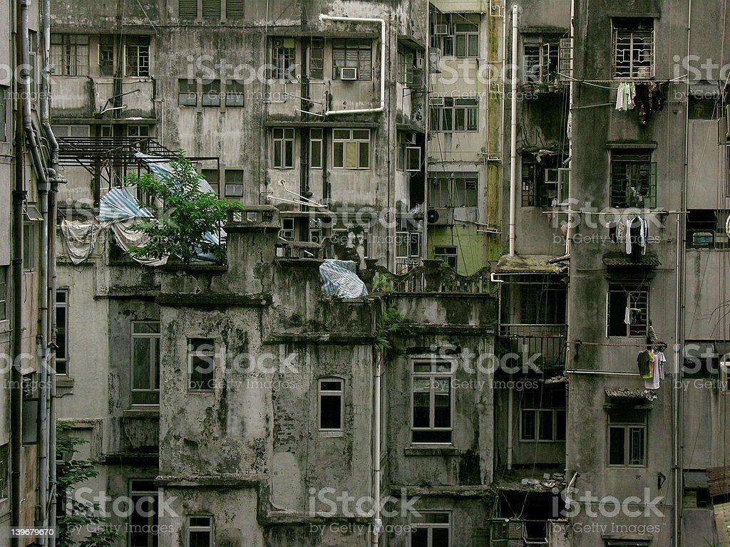 Hong Kong Slum royalty-free stock photo