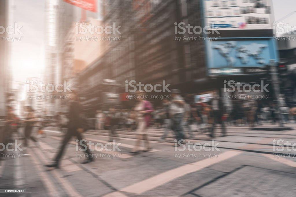 Hong Kong Street and Ambiguous Crowds