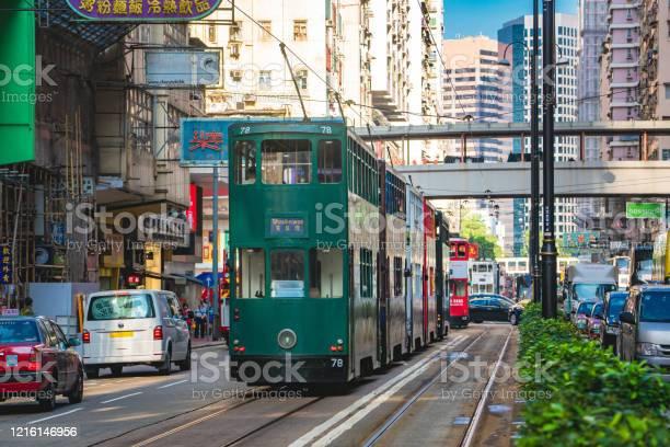 Hong kong street scene in wan chai tramway path picture id1216146956?b=1&k=6&m=1216146956&s=612x612&h=ggx7wmnhmoevj2yfjjpcc16glcvunirozqiye ayecy=