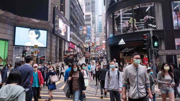 hong kong gatuvy - hongkong bildbanksfoton och bilder