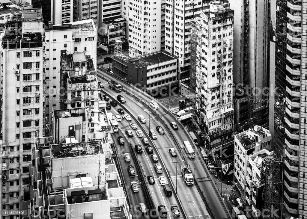 Hong Kong streets stock photo