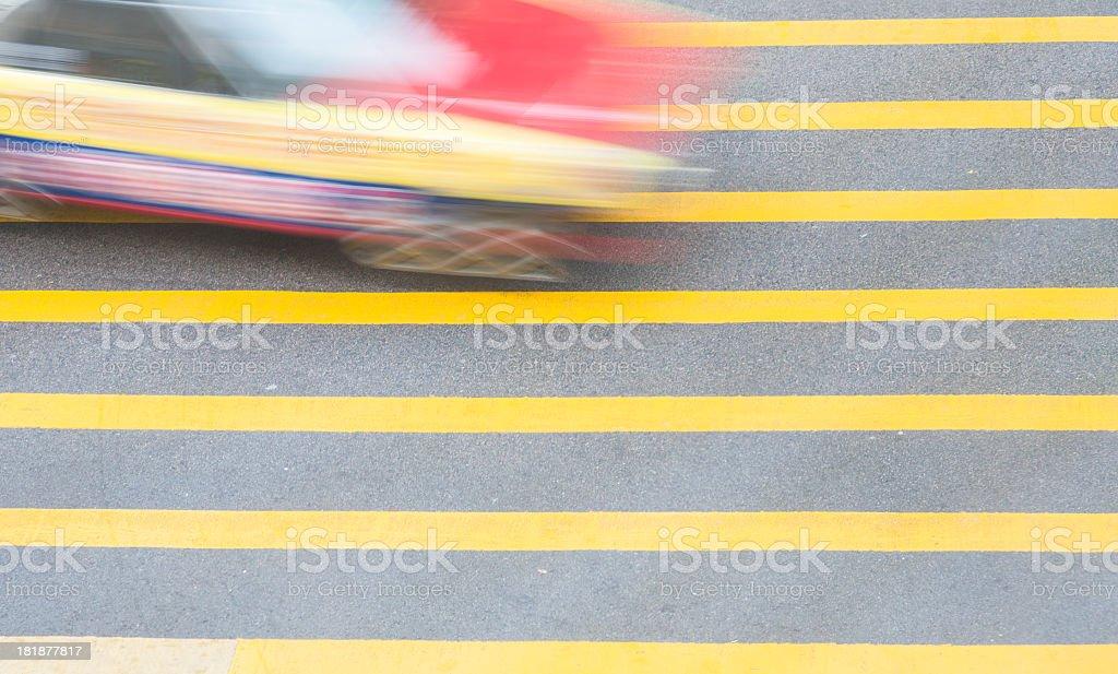 Hong Kong Taxi royalty-free stock photo