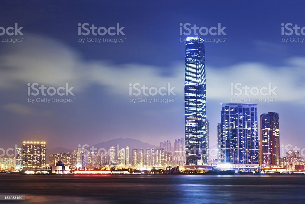 Hong Kong, The International Commerce Center (ICC) royalty-free stock photo