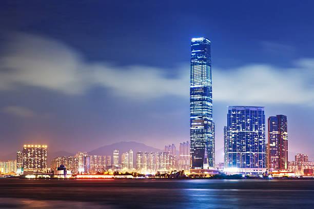 hongkong, dem international commerce centre (icc - kowloon stock-fotos und bilder
