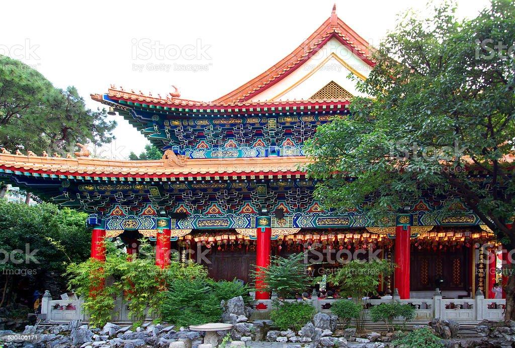Hong Kong. The Temple Wong Tai Sin. stock photo
