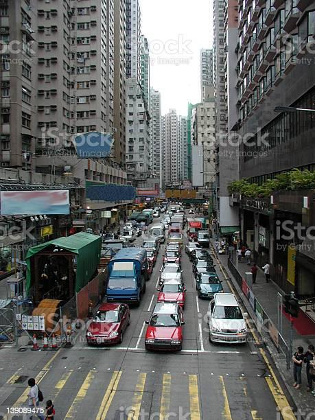 Hong kong traffic - street view