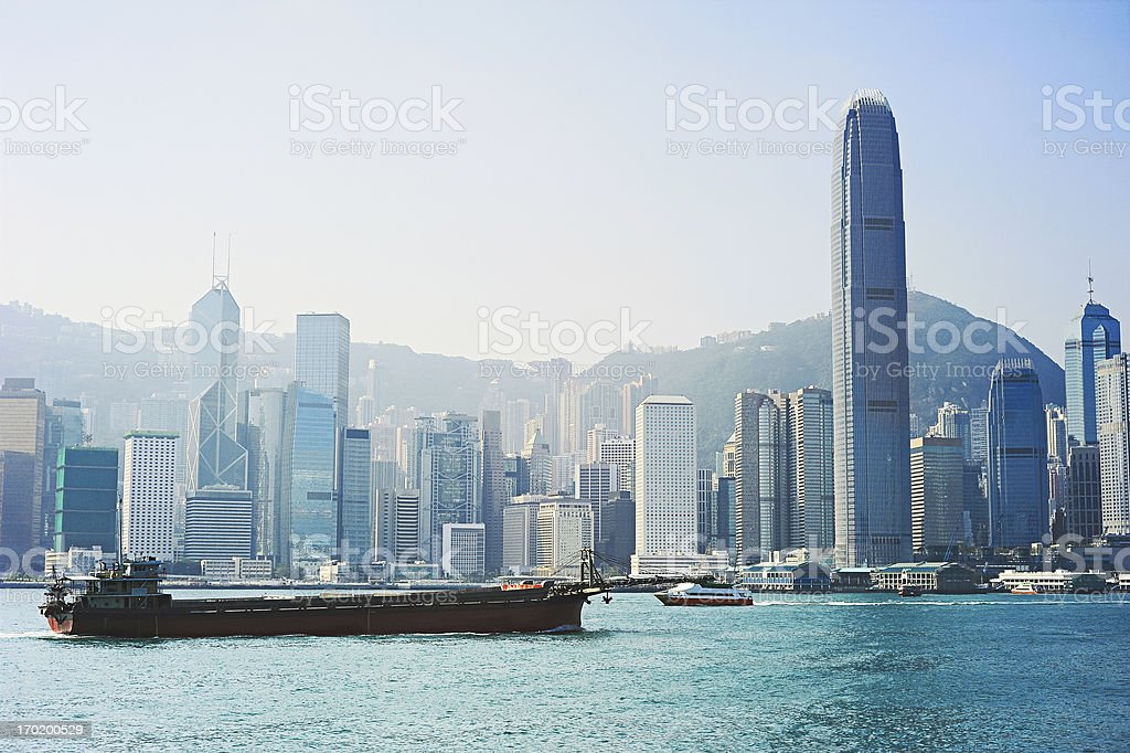 Hong Kong e transporte - foto de acervo