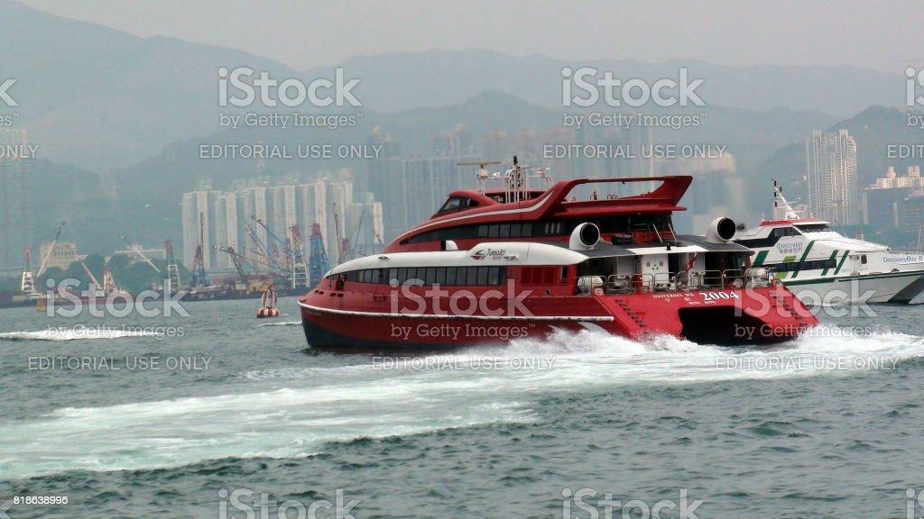 Hong Kong TurboJET Sailing To Macau Scenery In China Asia stock photo